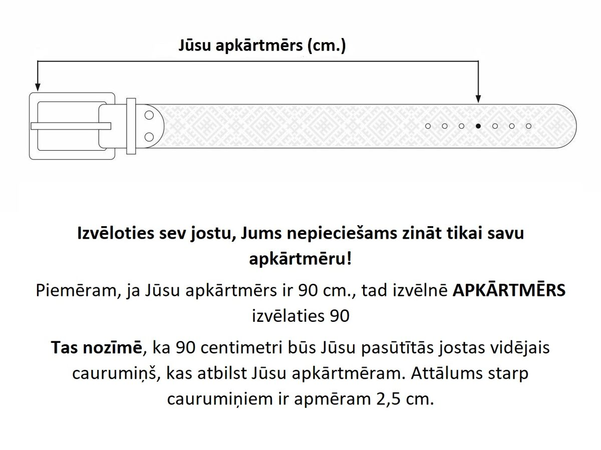 Zila ādas josta ar Lielvārdes jostas rakstu fragmentiem. Zelta krusts. 40.mm